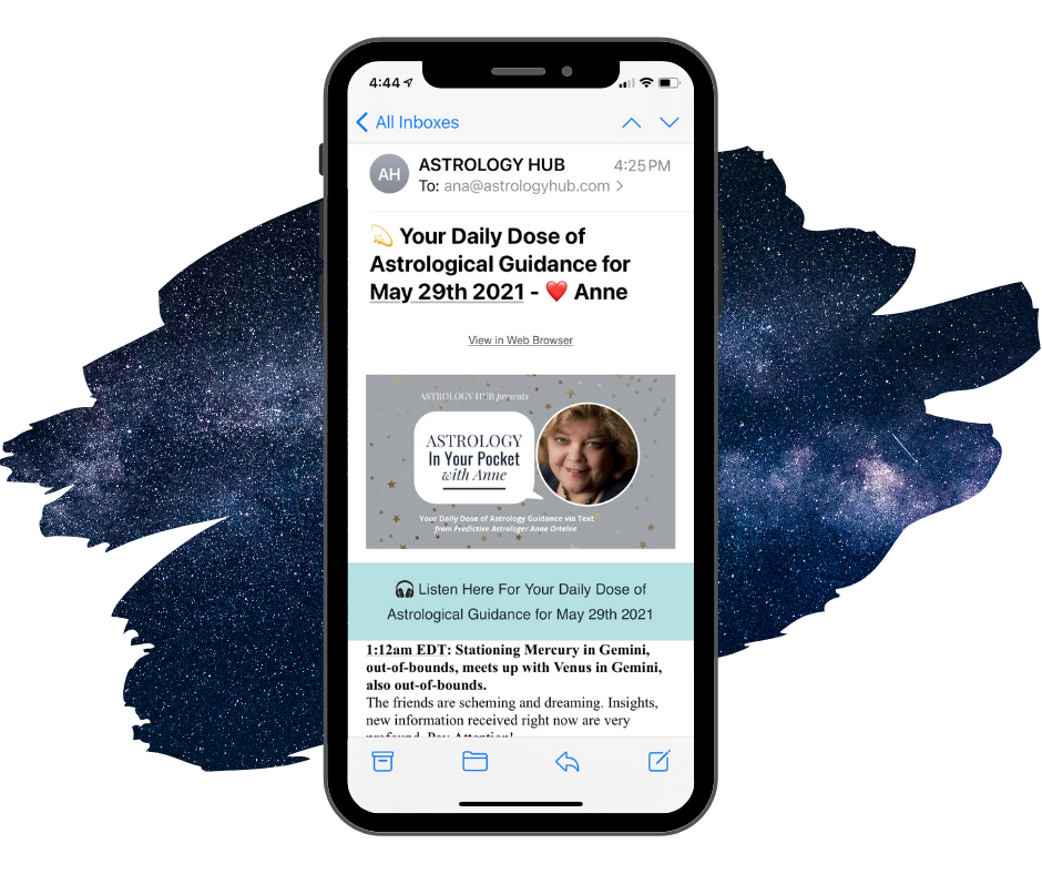Astrology In Your Pocket - Anne Ortelee - vie Email - Astrology Hub 8
